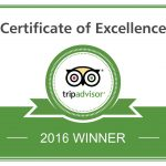 Trip Advisor Excellence Award 2016 – 4th award for the year!!!